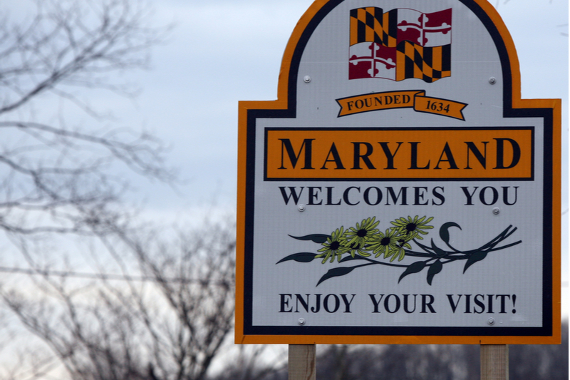 Maryland welcomes you sign