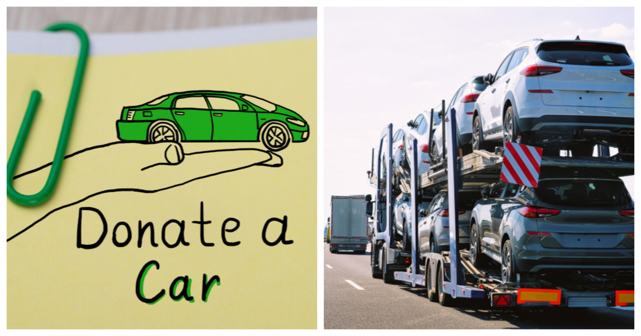 donate a car seven cars towed in car carrier