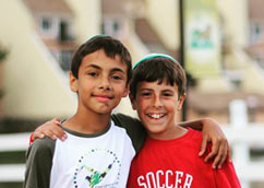 Two boys smiling at Kars4Kids' summer camp